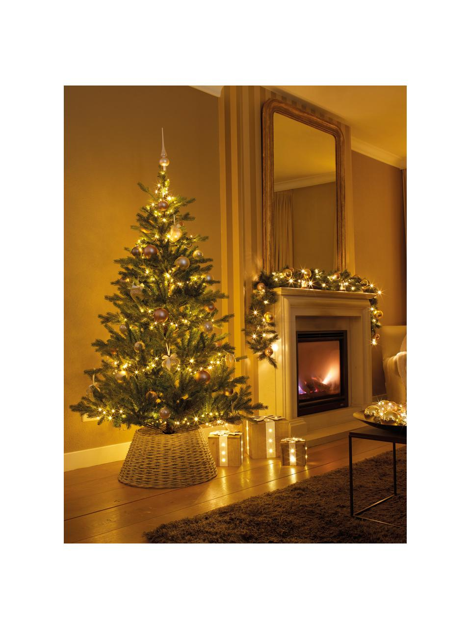 Dimmbare LED-Lichterkette 1-2 Glow, warmweiß, Kunststoff, Dunkelgrün, H 150 cm