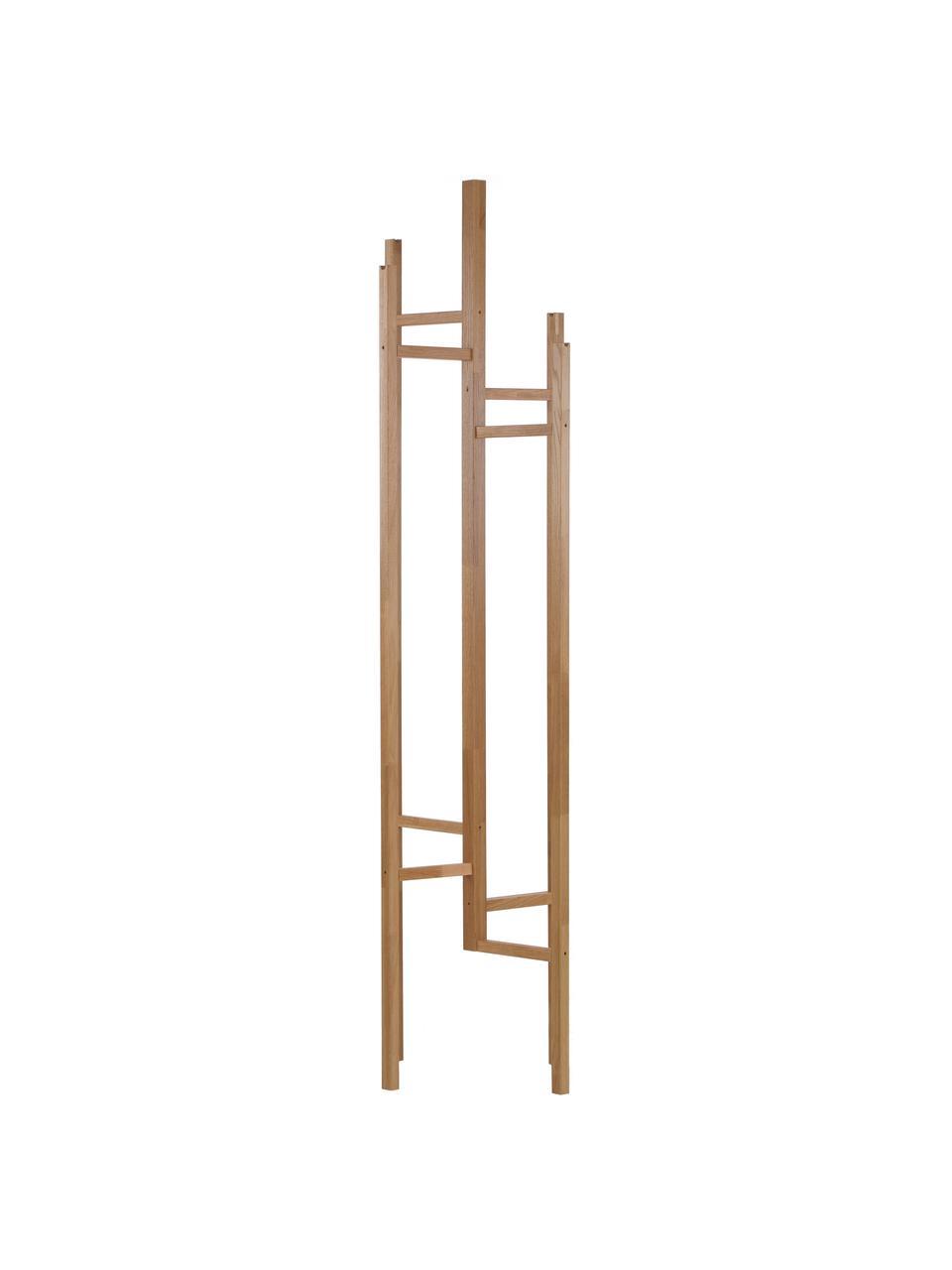 Moderne Garderobe Eigen mit 5 Haken, Eichenholz, massiv, Eichenholz, 47 x 175 cm