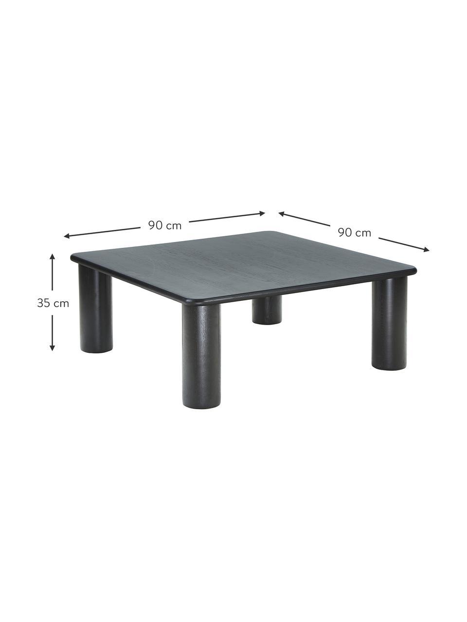 Dubový konferenční stolek Didi, Černá