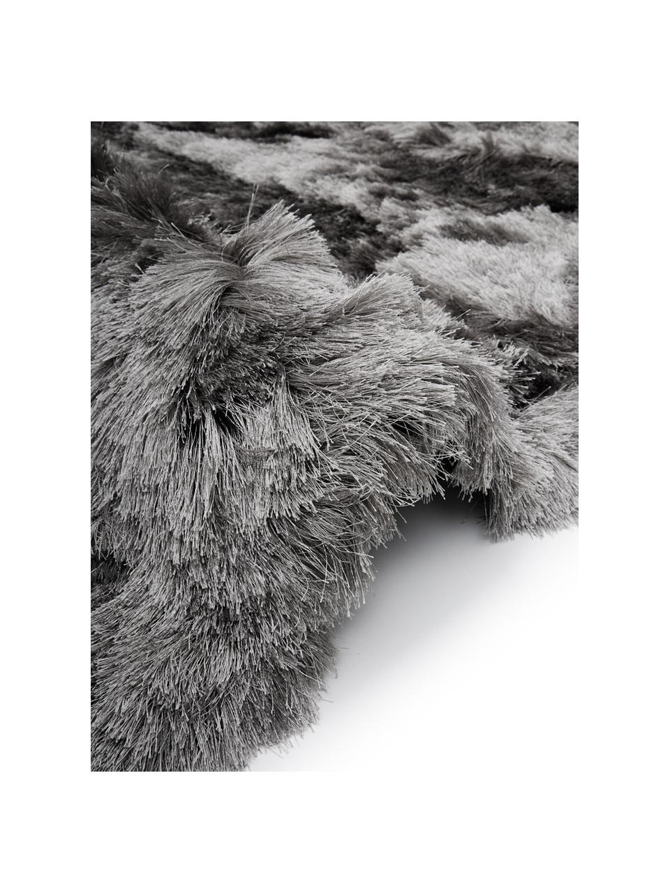 Glänzender Hochflor-Teppich Jimmy in Hellgrau, Flor: 100% Polyester, Hellgrau, B 300 x L 400 cm (Größe XL)