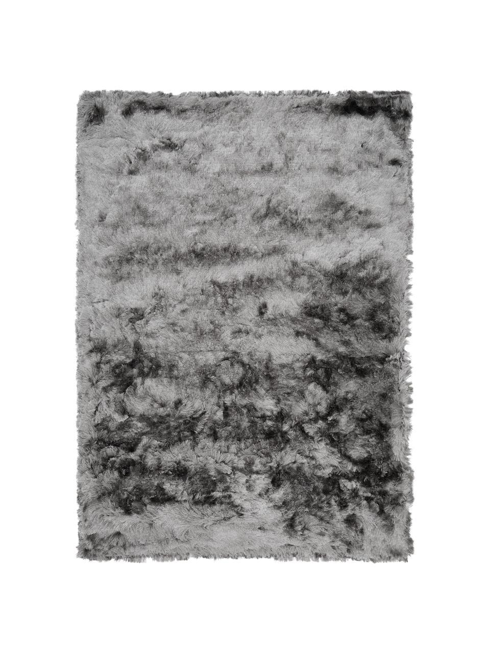 Tappeto lucido a pelo lungo grigio chiaro Jimmy, Retro: 100% cotone, Grigio chiaro, Larg. 300 x Lung. 400 cm (taglia XL)
