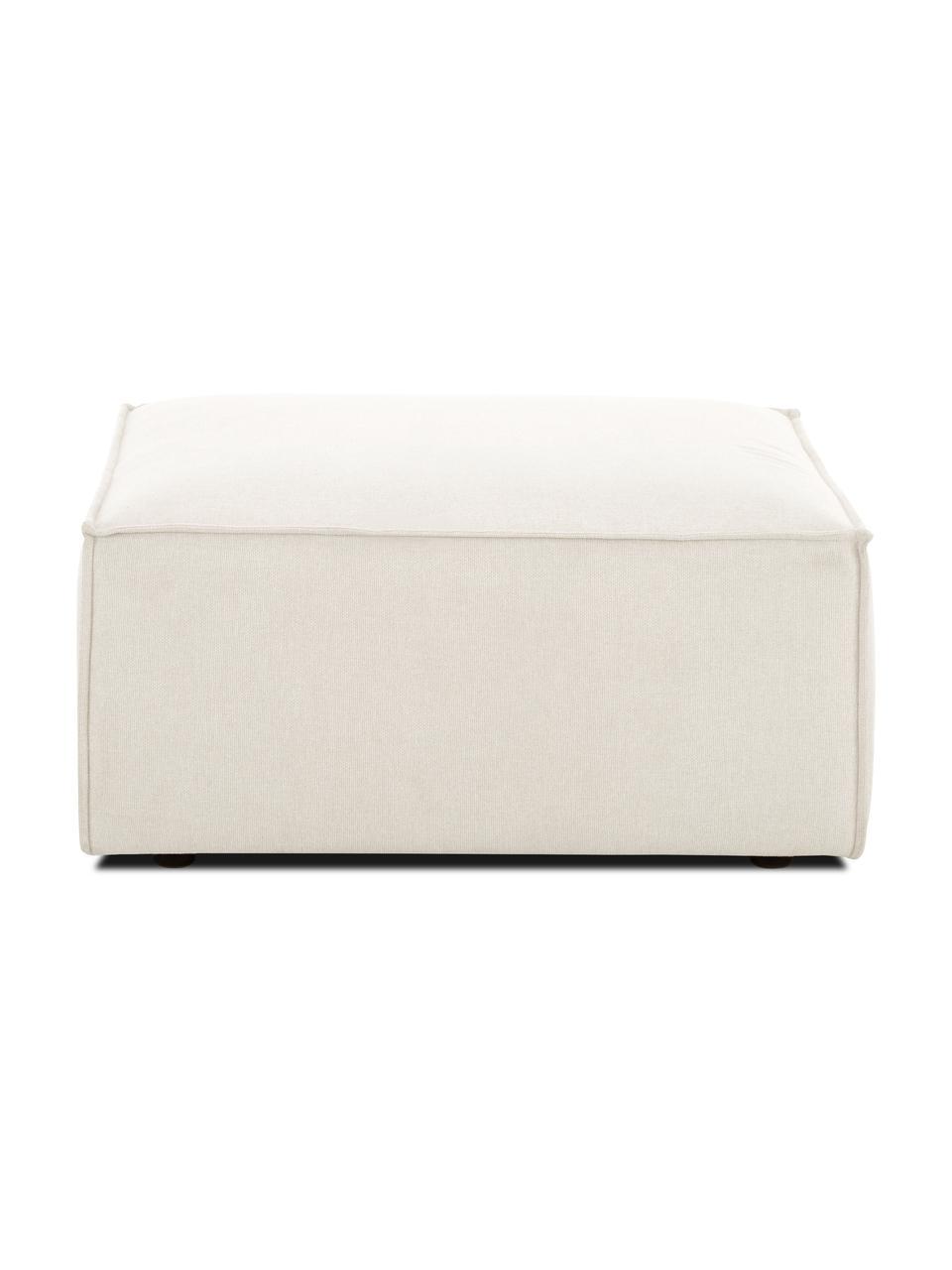 Poggiapiedi da divano in tessuto beige Lennon, Rivestimento: 100% poliestere Il rivest, Struttura: legno di pino massiccio, , Piedini: materiale sintetico I pie, Tessuto beige, Larg. 88 x Alt. 43 cm