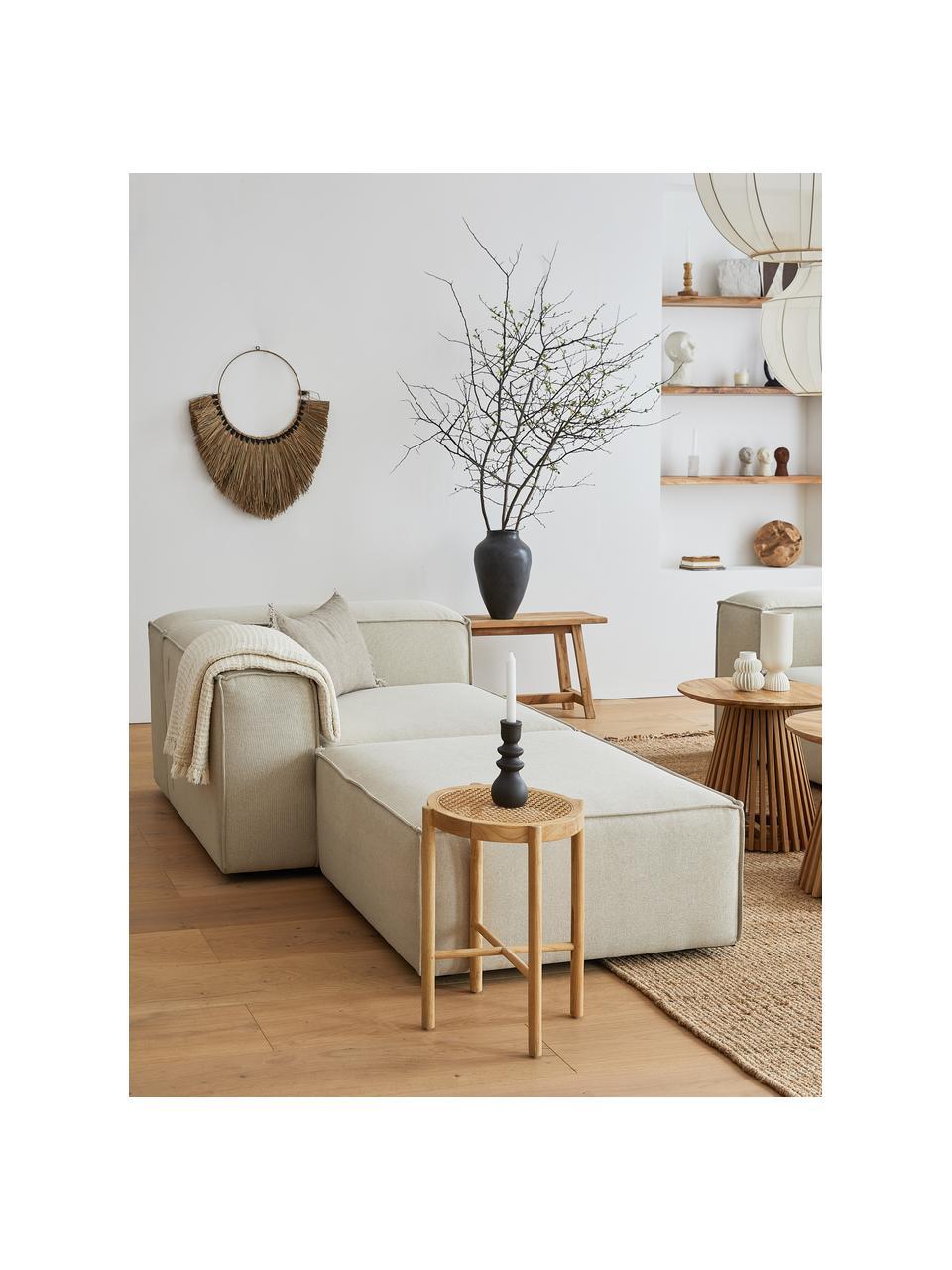 Sofa-Hocker Lennon in Beige, Bezug: Polyester Der hochwertige, Gestell: Massives Kiefernholz, Spe, Webstoff Beige, 88 x 43 cm