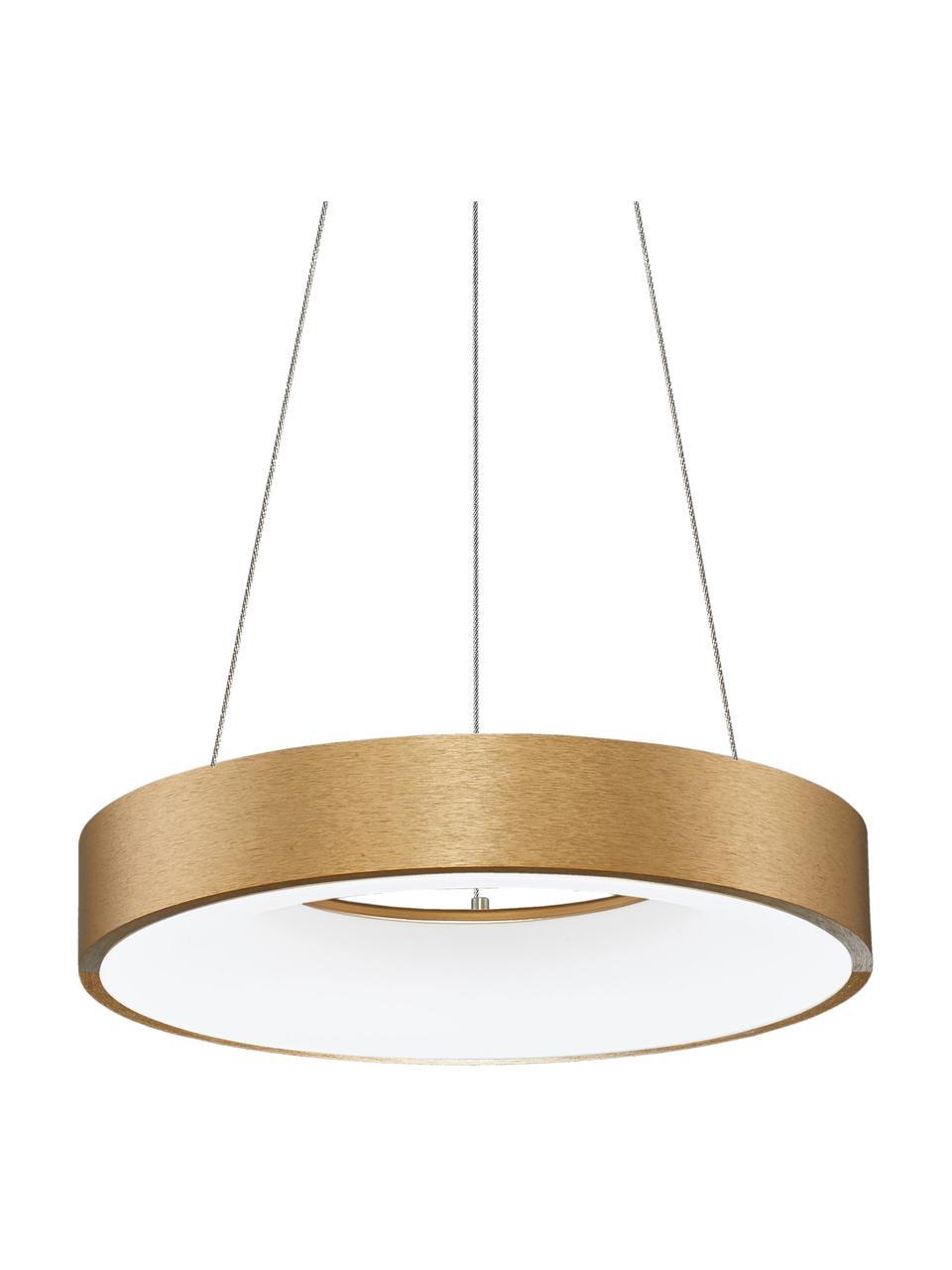 Lampa wisząca LED z funkcją przyciemniania Rando, Odcienie złotego, Ø 60 x W 6 cm