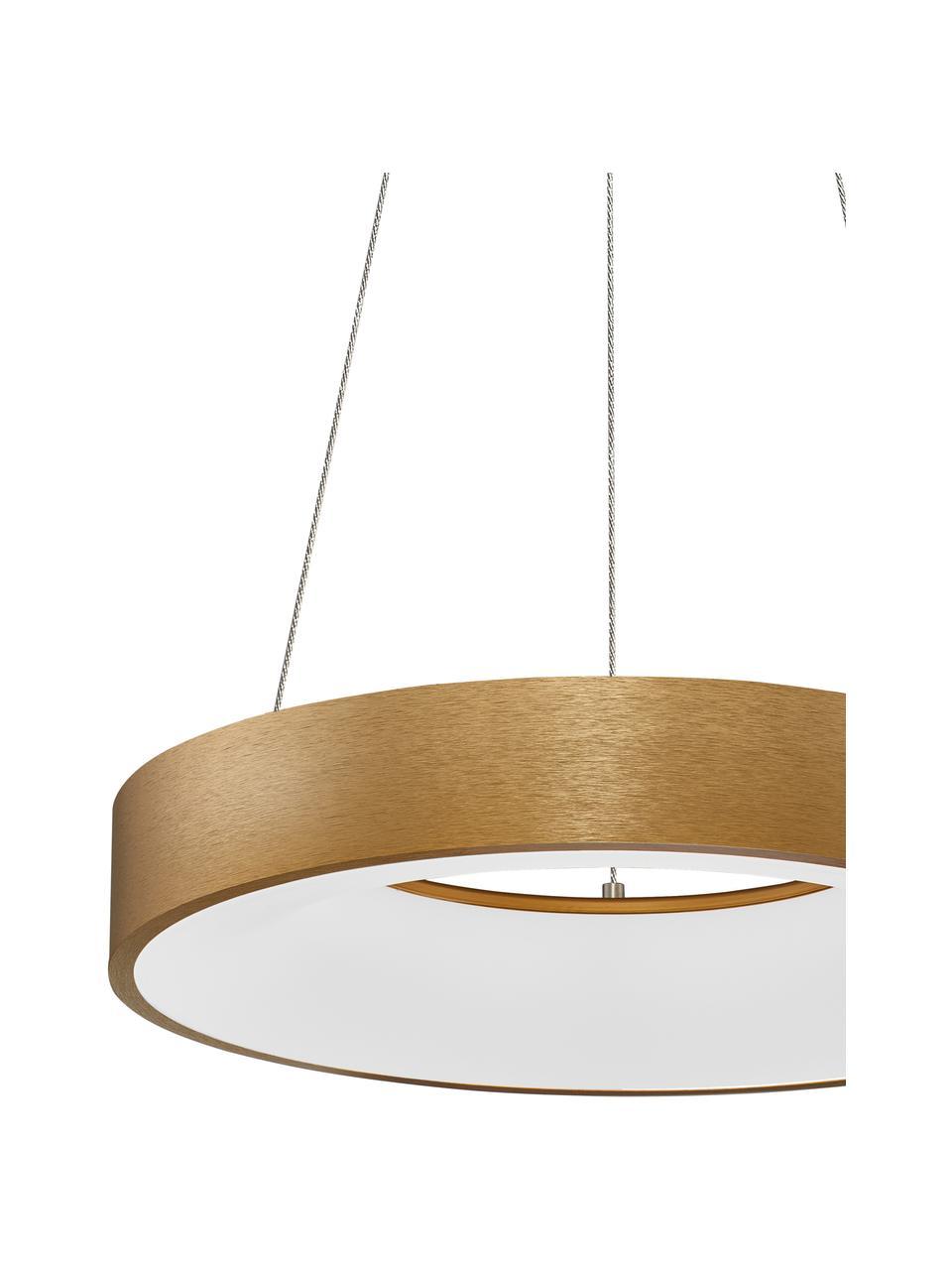 Dimmbare LED-Pendelleuchte Rando in Gold, Lampenschirm: Aluminium, beschichtet, Baldachin: Aluminium, beschichtet, Goldfarben, Ø 60 x H 6 cm