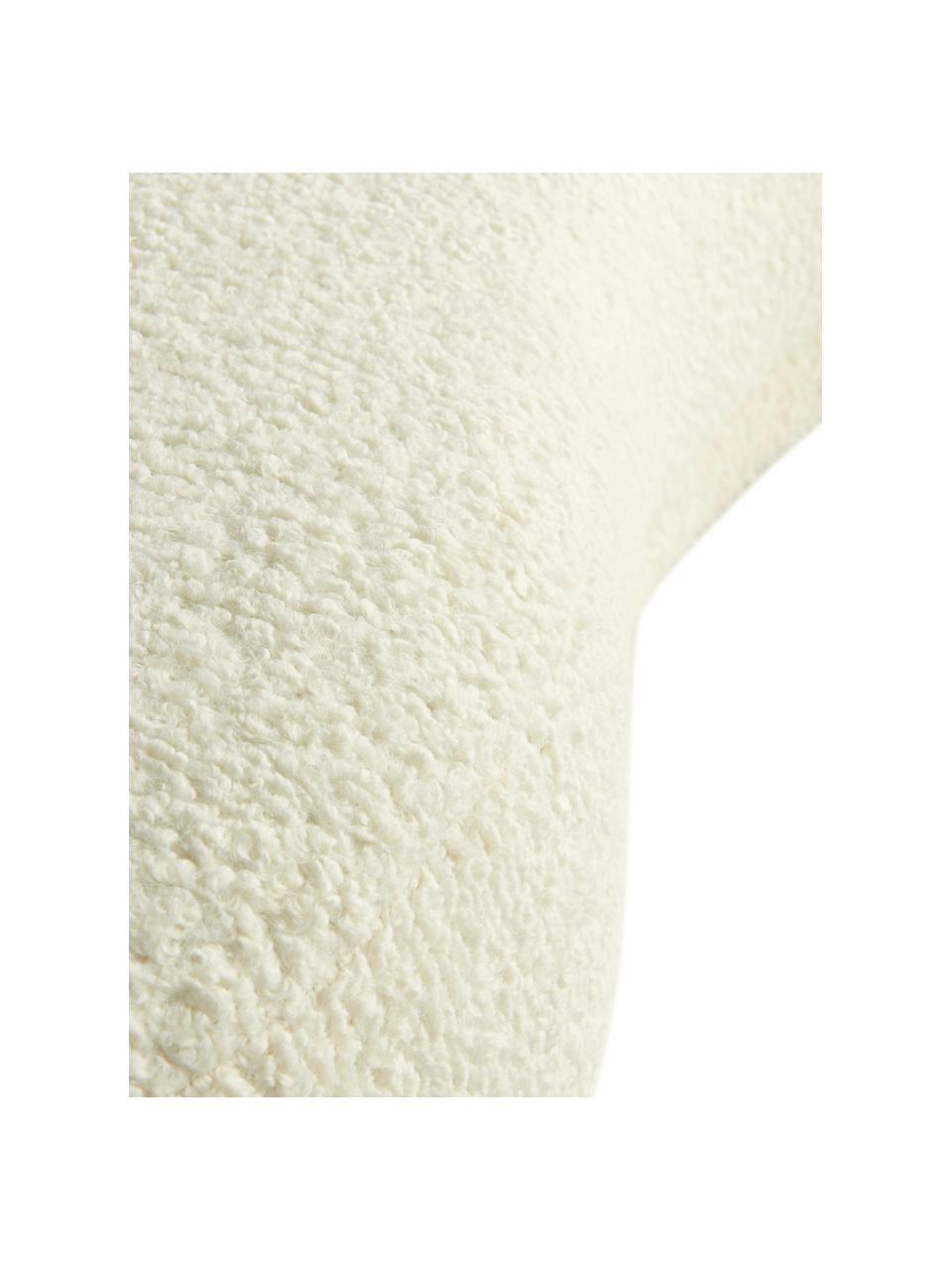 Panca in tessuto teddy bianco crema Austin, Rivestimento: poliestere (teddy), Struttura: legno di pino, Peluche bianco crema, Larg. 160 x Alt. 36 cm