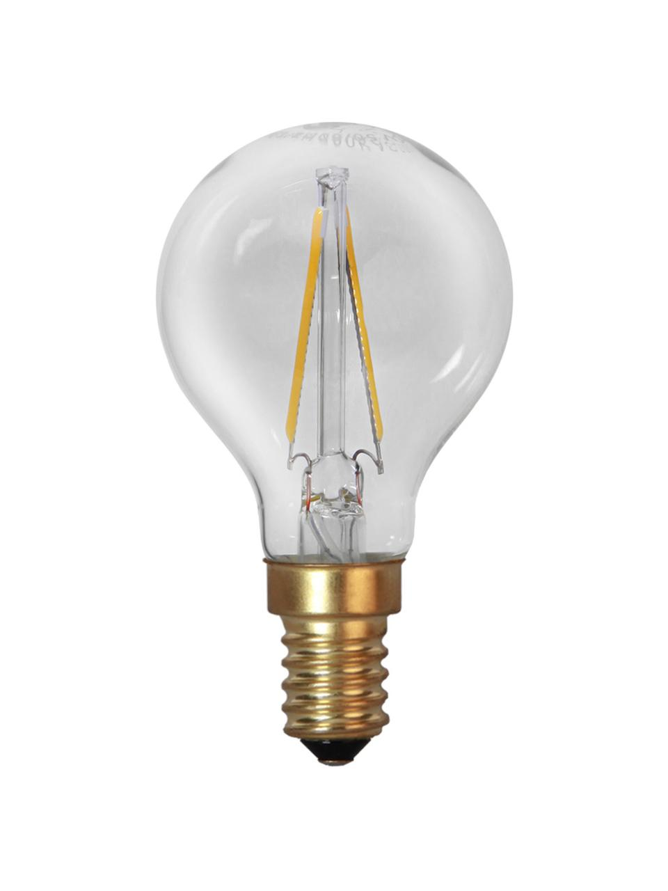 E14 Leuchtmittel, 1.5W, warmweiß, 1 Stück, Leuchtmittelschirm: Glas, Leuchtmittelfassung: Aluminium, Transparent, Messingfarben, Ø 5 x H 8 cm