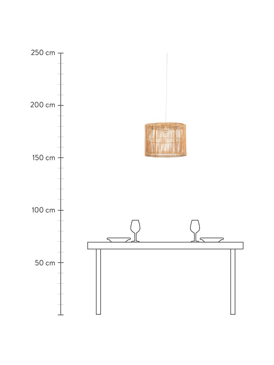 Lampada a sospensione in rattan Sea, Paralume: rattan, naturale, Bianco, rattan, finitura naturale, Ø 40 x Alt. 30 cm
