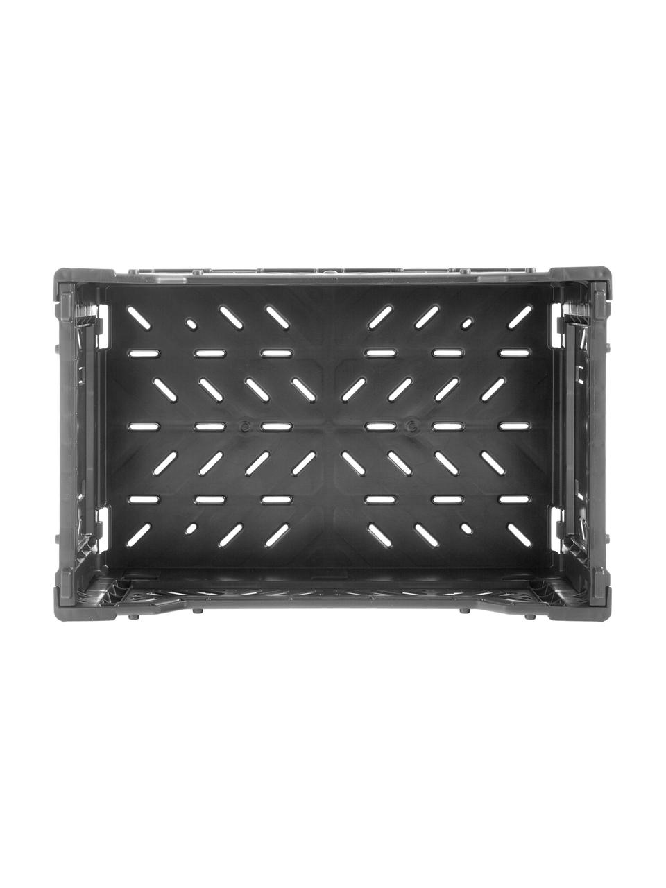 Cesto piccolo pieghevole e impilabile Black, Materiale sintetico riciclato, Nero, Larg. 27 x Alt. 11 cm