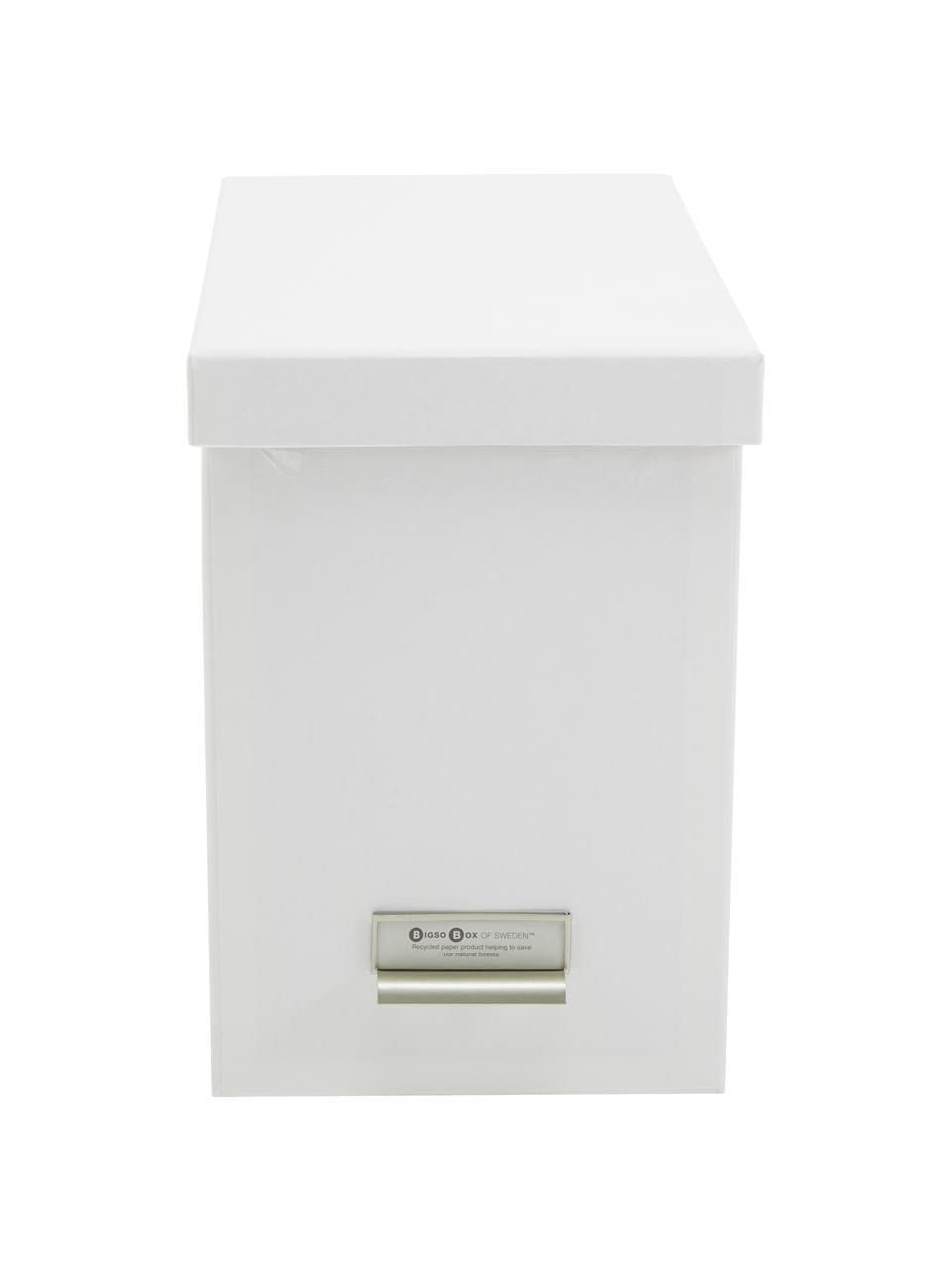 Scatola per documenti Johan 9 pz, Organizer: solido cartone laminato, Organizzatore esterno: bianco organizzatore interno: bianco, Larg. 19 x Alt. 27 cm