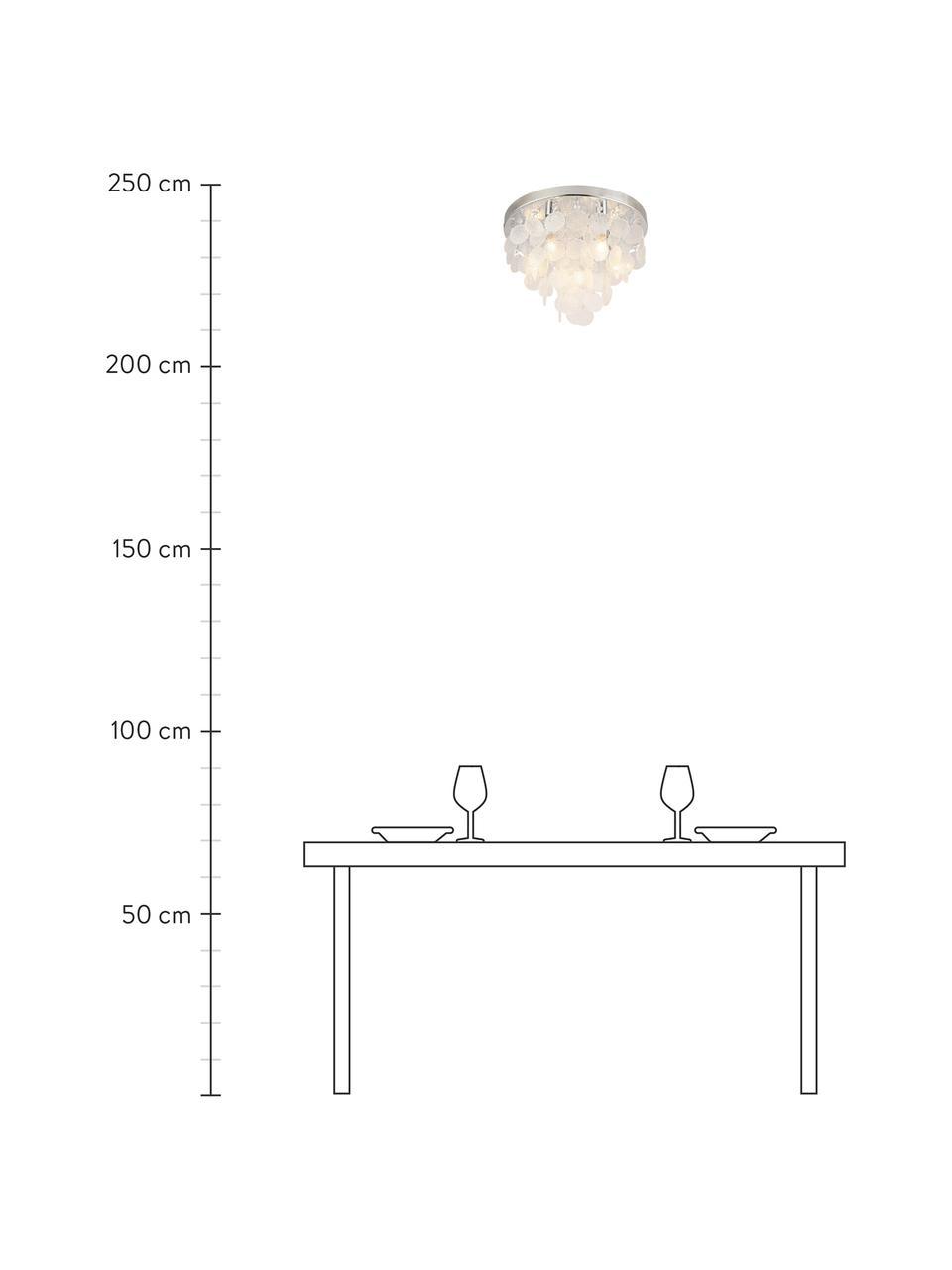 Lampa sufitowa ze szkła Pardo, Chrom, transparentny, Ø 40 x W 29 cm