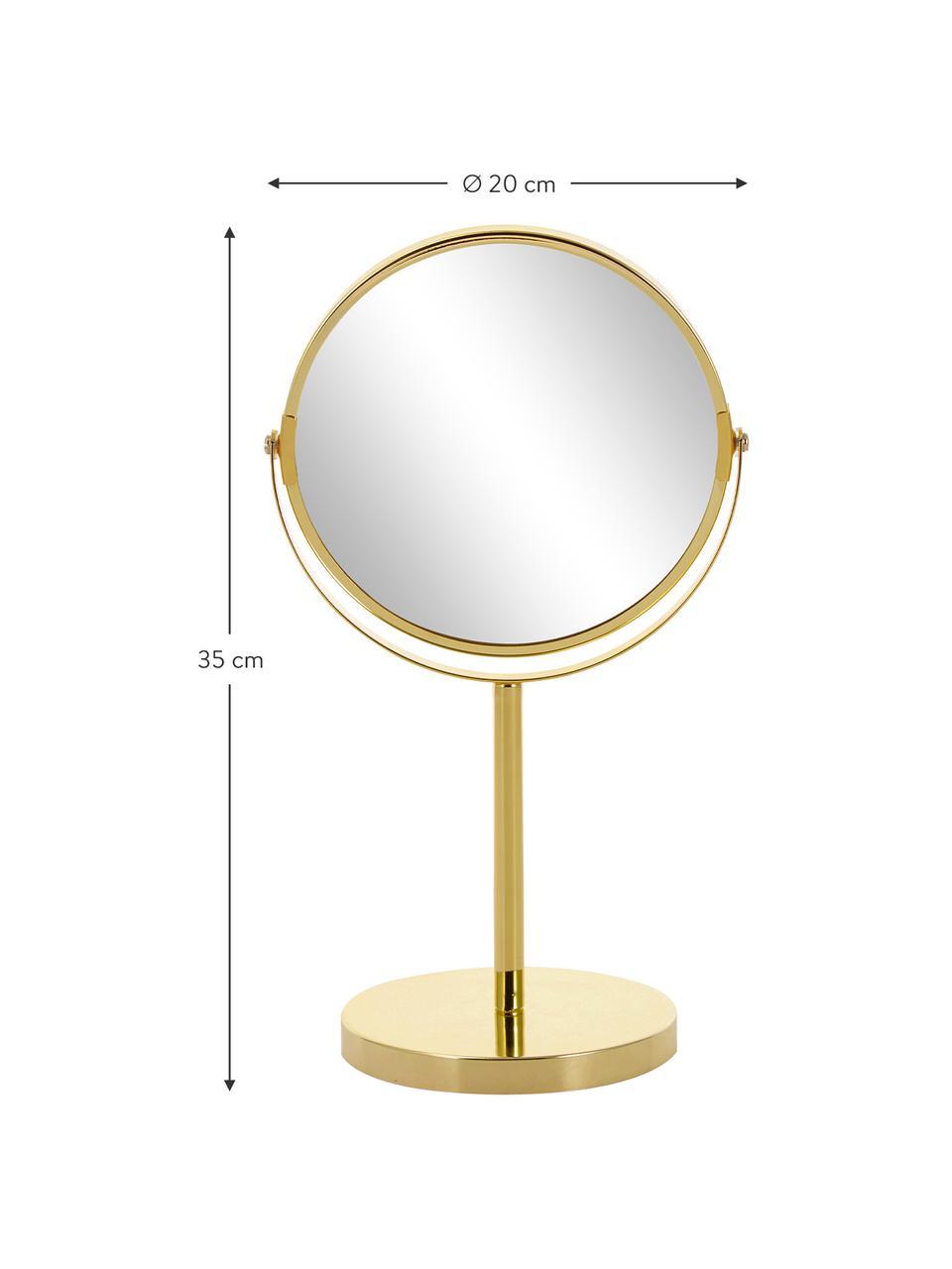 Specchio ingranditore da tavolo Classic, Cornice: metallo, Superficie dello specchio: lastra di vetro, Cornice: dorato, Specchio: lastra di vetro, Ø 20 x Alt. 35 cm
