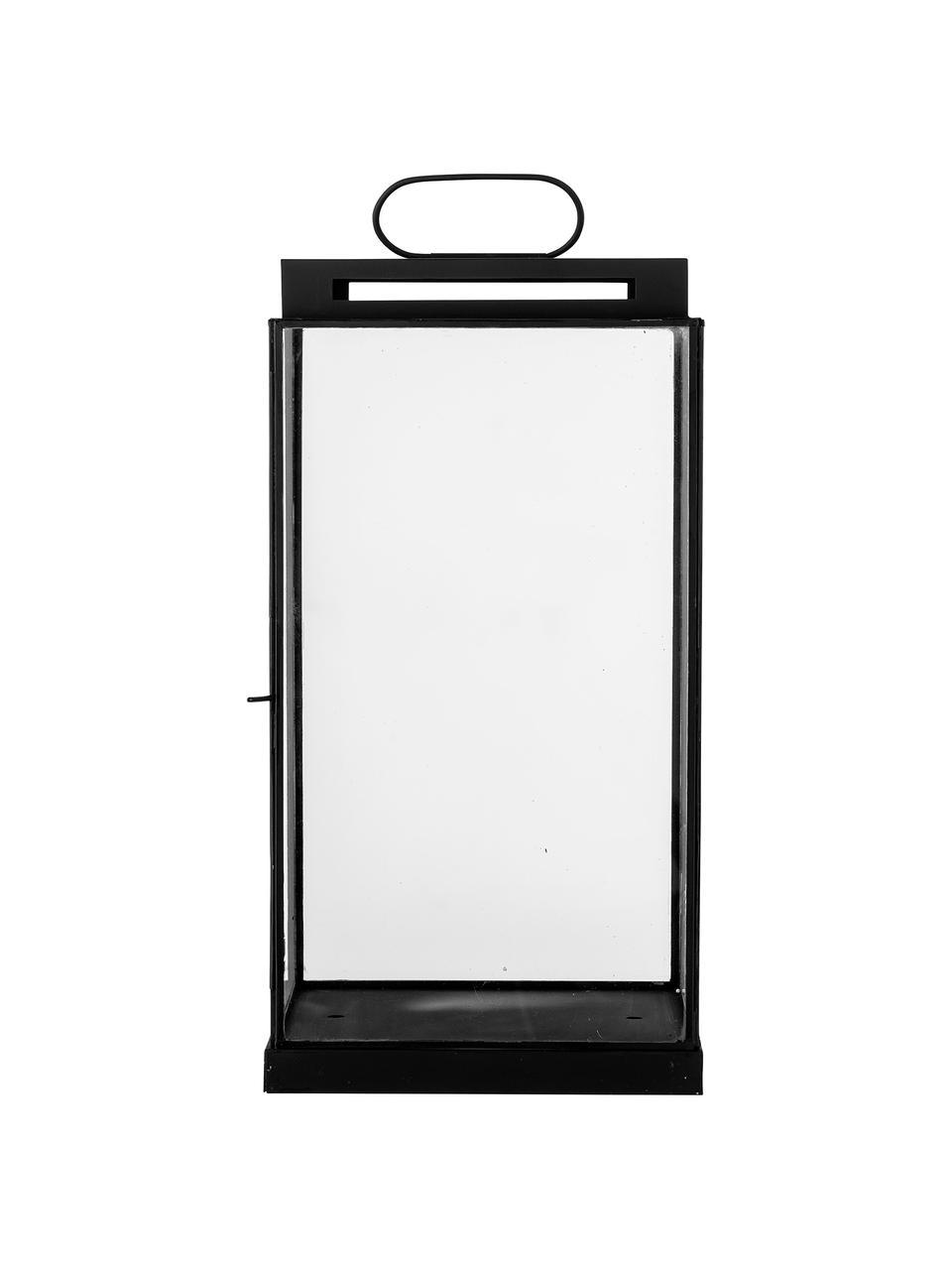 Lantaarn Kriss van metaal, Frame: gecoat metaal, Zwart, 17 x 34 cm
