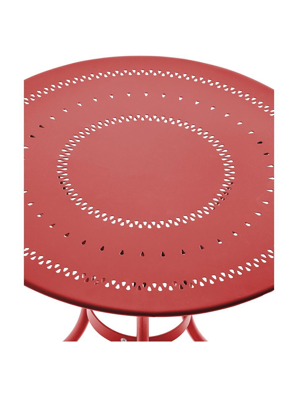 Garten-Bistrotisch Century aus Metall, Metall, pulverbeschichtet, Rot, Ø 58 x H 71 cm