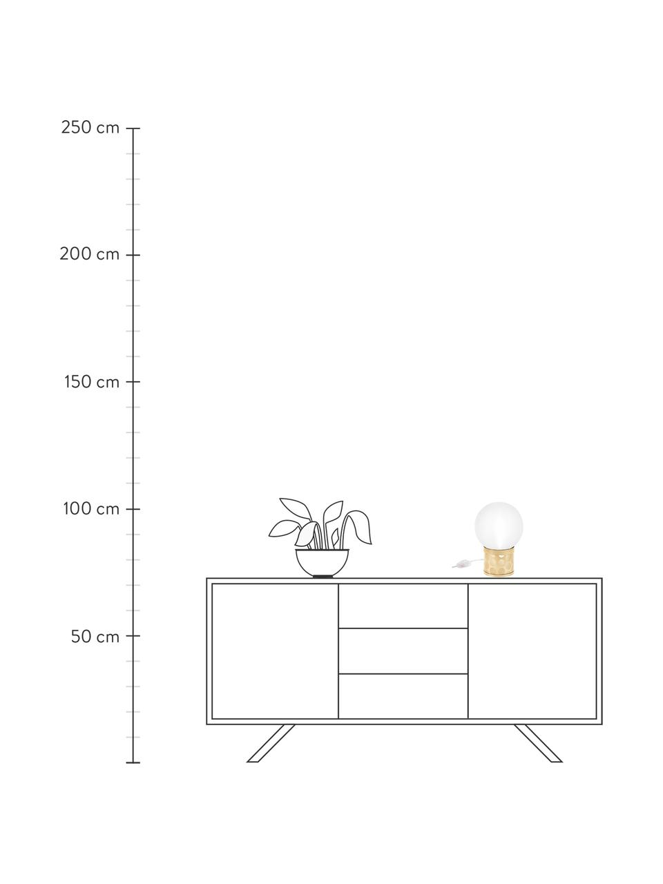 Lampada da tavolo dimmerabile Atmosfera Fringe, Paralume: metacrilato Base lampada, Dorato, bianco, Larg. 20 x Alt. 30 cm