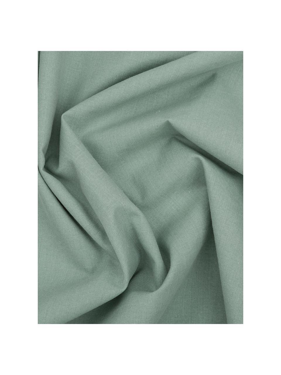 Perkal dekbedovertrek The New Vintage, Lichtgroen, 140 x 220 cm