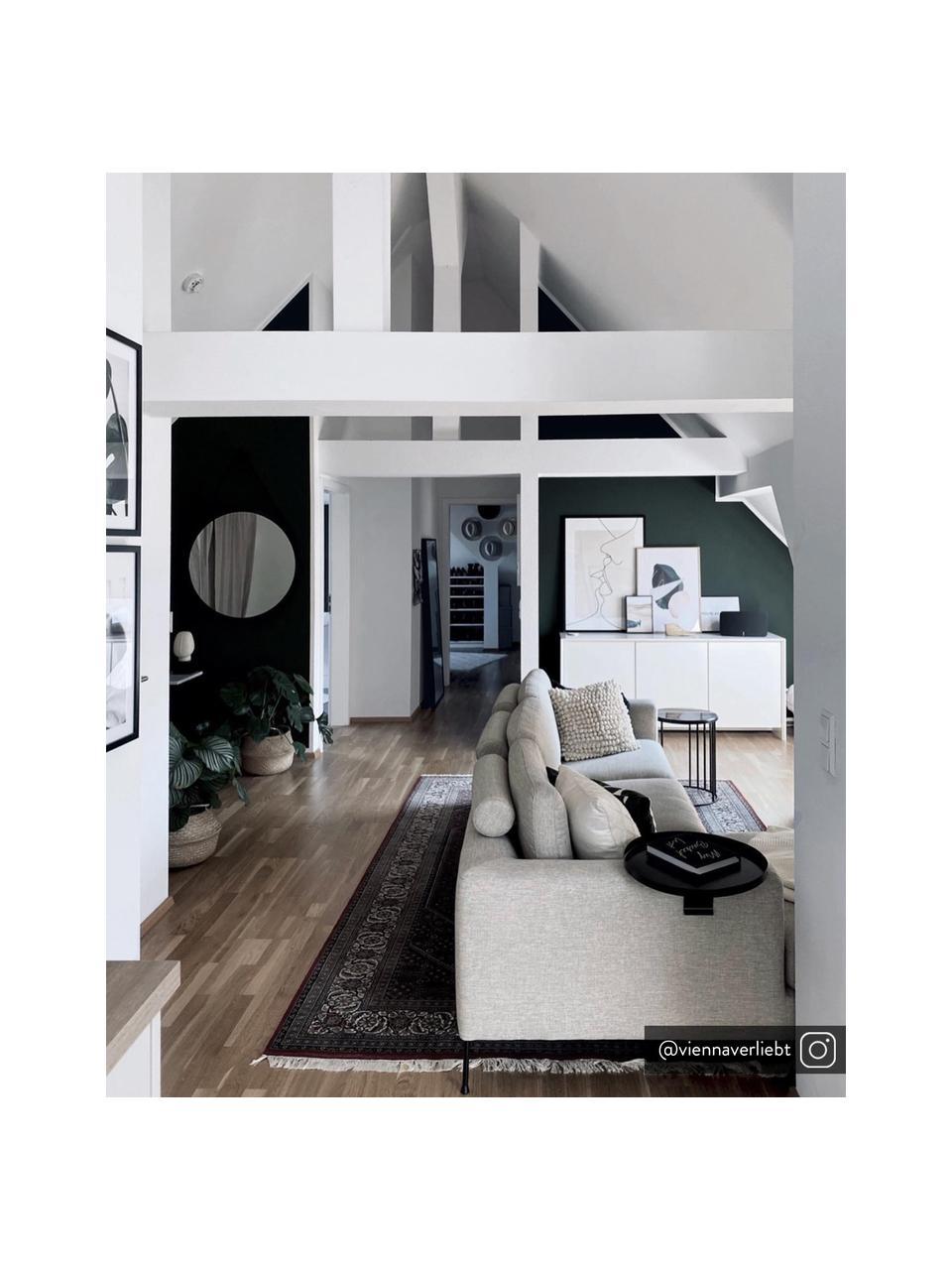 Sofá rinconero Cucita (4plazas), Tapizado: tejido (poliéster) Alta r, Estructura: madera de pino maciza, Patas: metal pintado, Tejido beige, An 302 x F 163 cm