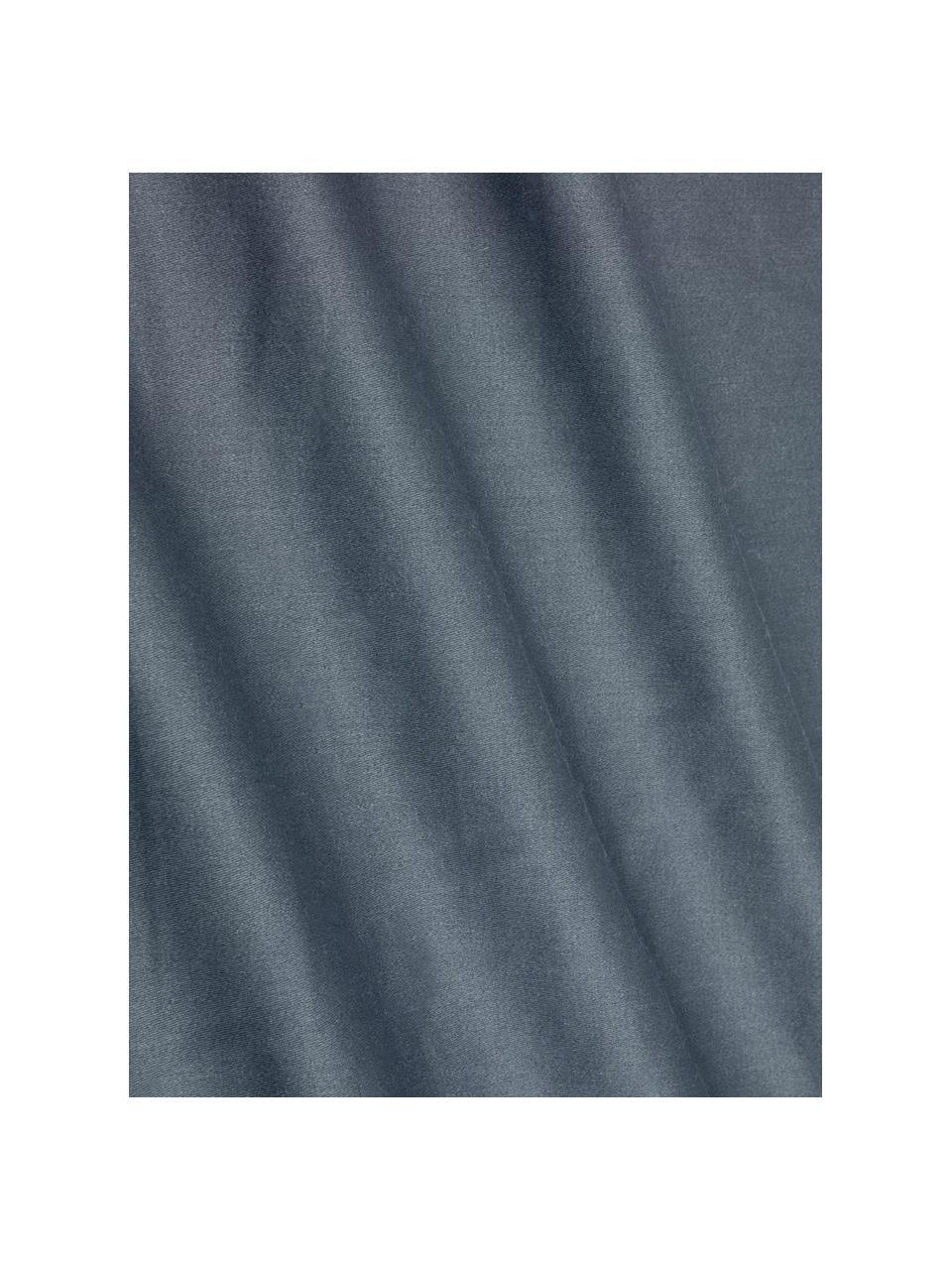 Poszewka na poduszkę z satyny bawełnianej Flora, 2szt., Przód: wielobarwny Tył: ciemny szary, S 40 x D 80 cm