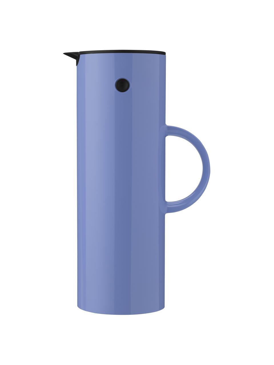 Isolierkanne EM77 in Blau glänzend, 1 L, ABS-Kunststoff mit Glaseinsatz, Blau, Ø 11 x H 30 cm