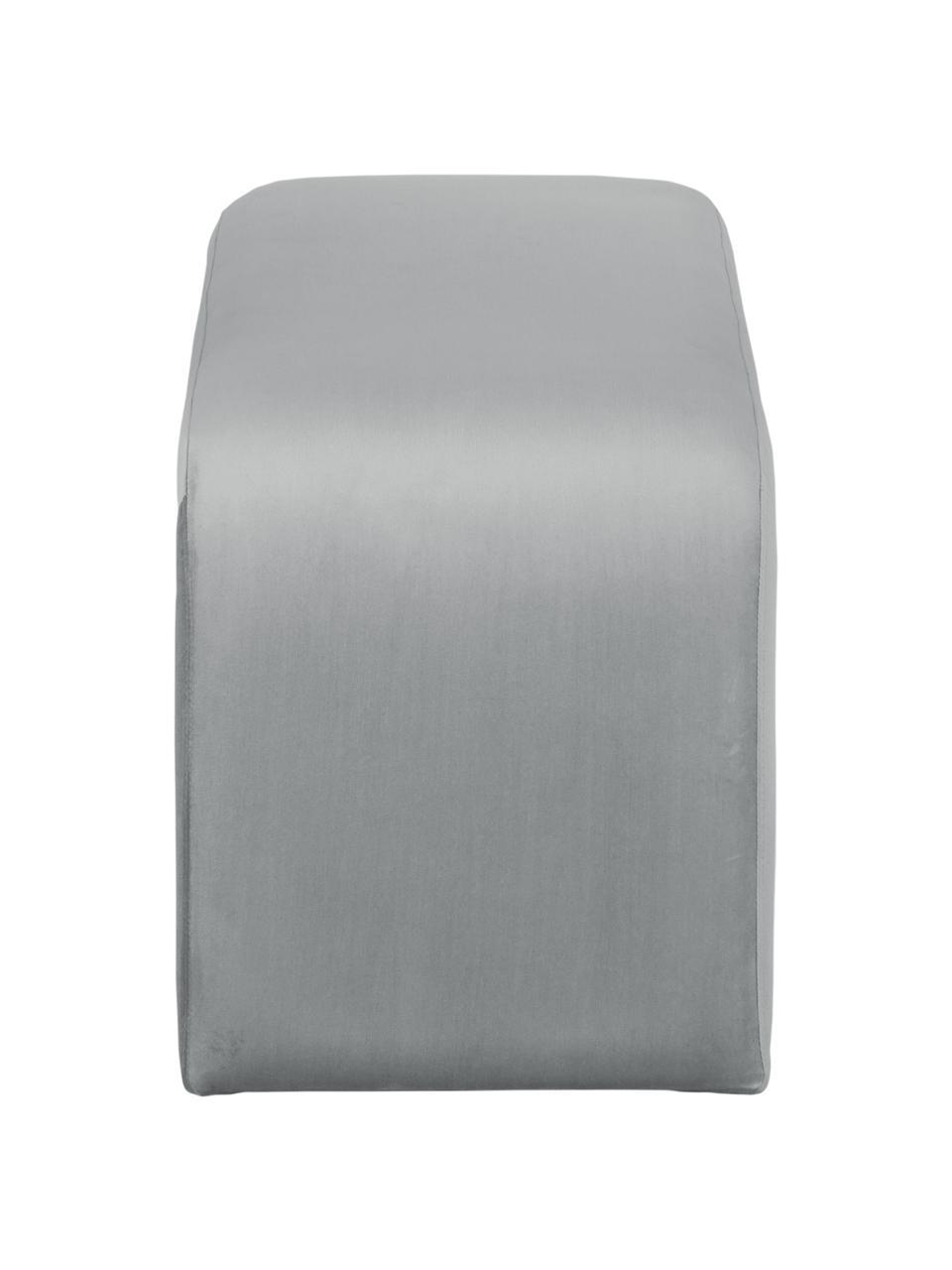 Ławka tapicerowana z aksamitu Penelope, Tapicerka: aksamit (poliester) 2500, Stelaż: metal, płyta wiórowa, Szary, S 110 x W 46 cm
