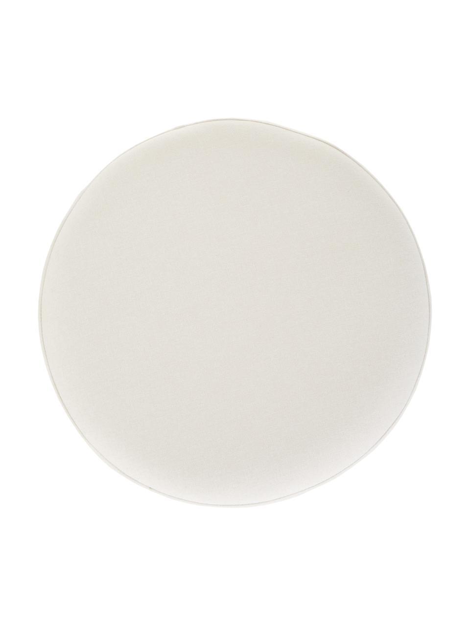 Puf Daisy, Tapicerka: 100% poliester Dzięki tka, Biały, Ø 38 x W 45 cm
