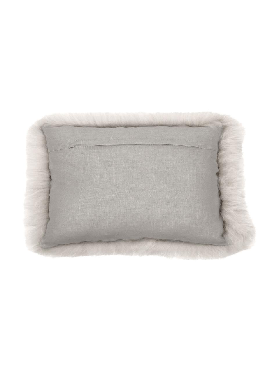 Poszewka na poduszkę ze skóry owczej Oslo, Beżowy, S 30 x D 50 cm