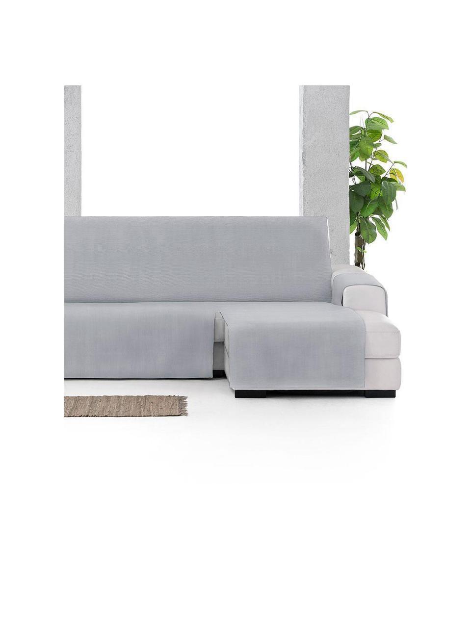 Narzuta na sofę narożną Levante, 65% bawełna, 35% poliester, Szary, S 150 x D 240 cm