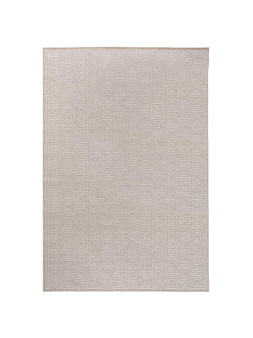 Wollen vloerkleed Jacob met grafisch patroon in beige/lichtgrijs, 70% wol, 30% viscose Bij wollen vloerkleden kunnen vezels loskomen in de eerste weken van gebruik, dit neemt af door dagelijks gebruik en pluizen wordt verminderd., Lichtgrijs, beige, B 240 x L 340 cm (Maat XL)