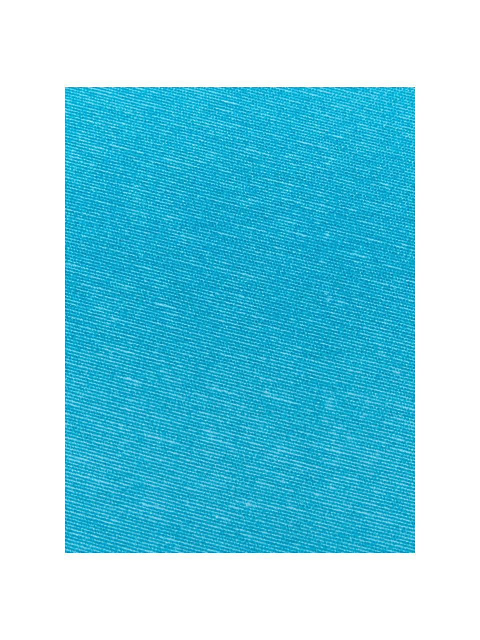Einfarbige Bankauflage Panama in Türkis, Bezug: 50% Baumwolle, 45% Polyes, Türkis, 48 x 120 cm