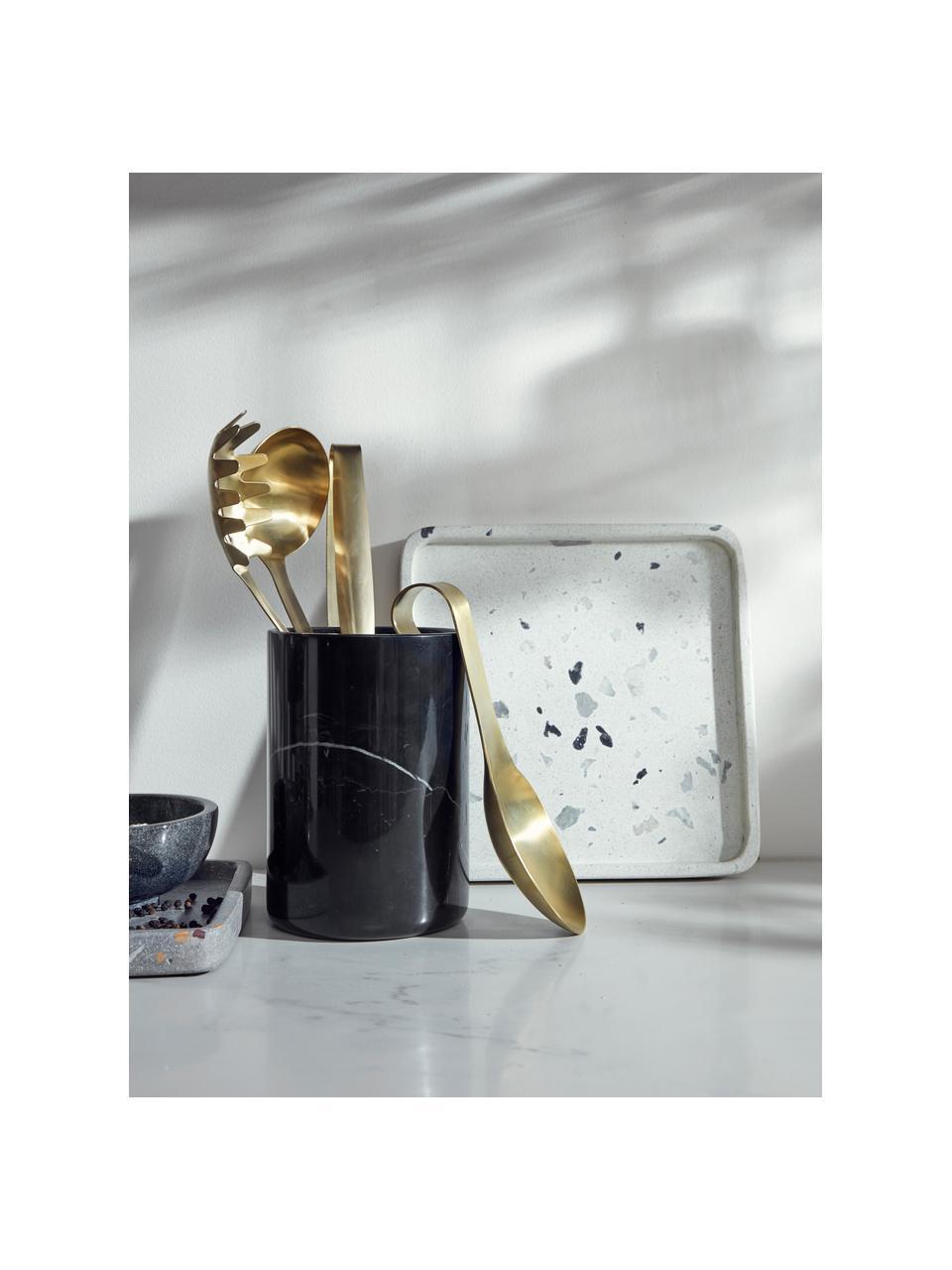 Poggiamestolo dorato opaco Goldies, Acciaio inossidabile, Ottone opaco, Larg. 8 x Lung. 24 cm