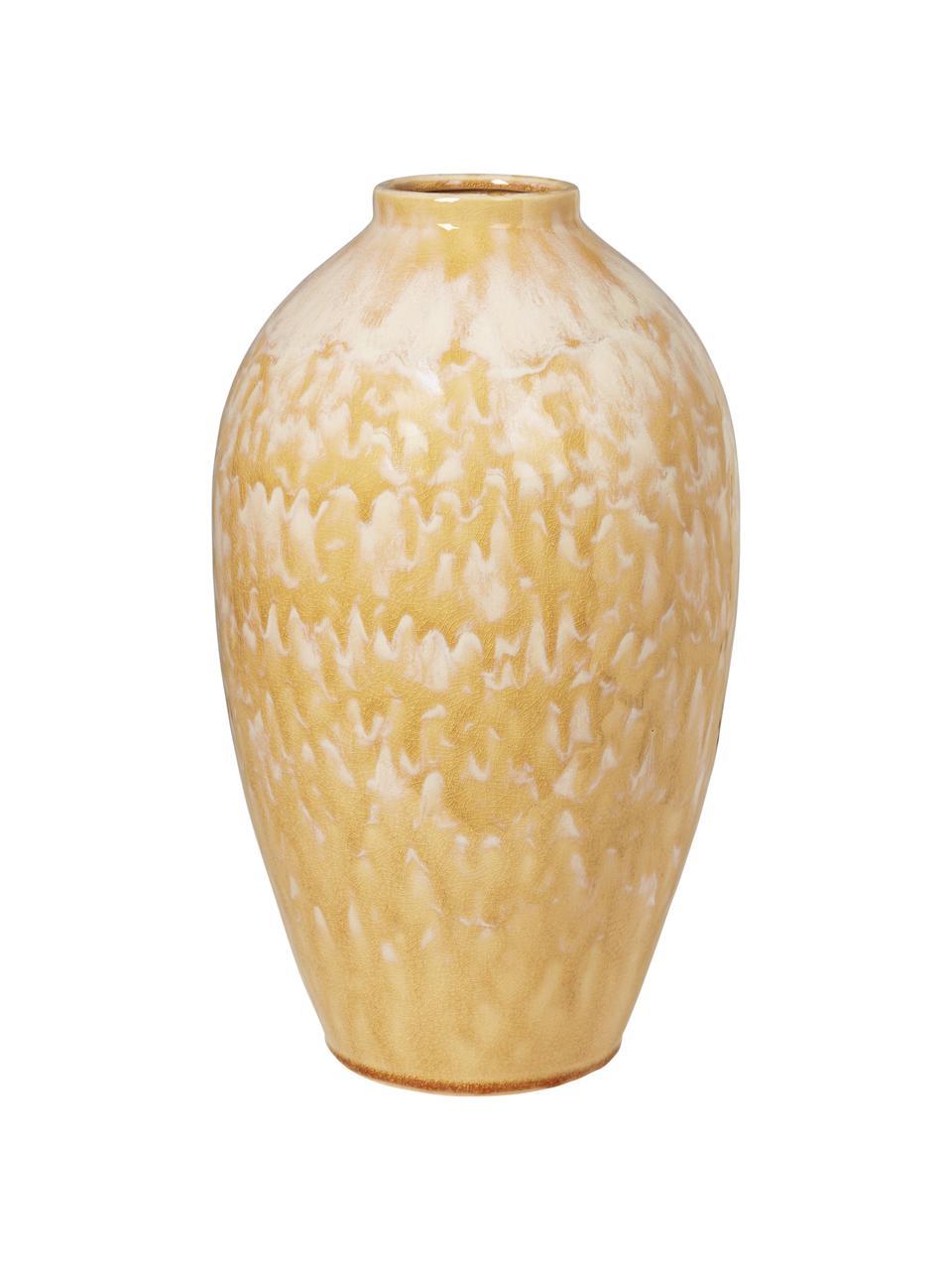 Große Keramik Vase Ingrid in Gelb