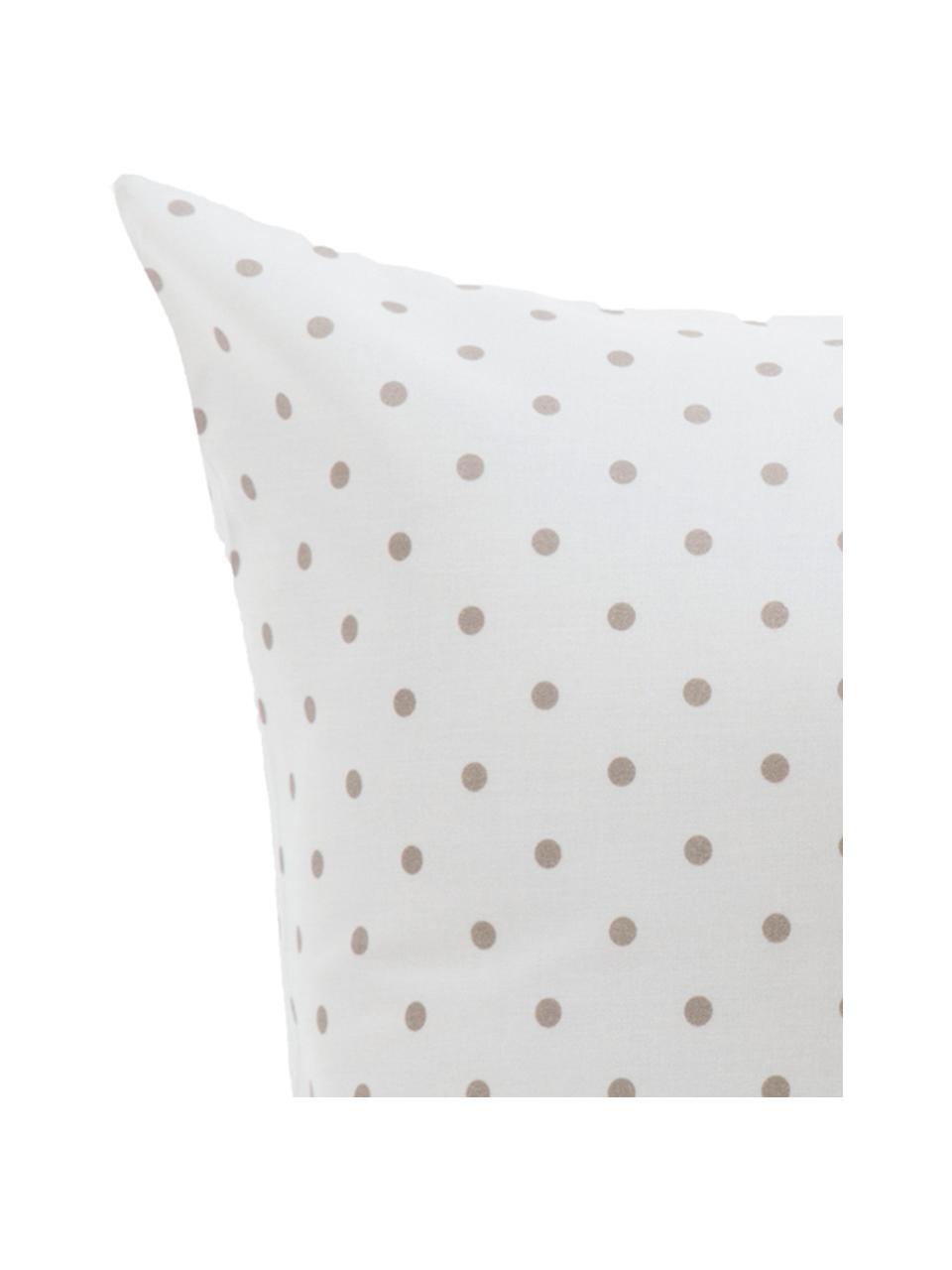Parure copripiumino in cotone Lilca, Cotone, Fronte: grigio, bianco Retro: bianco, 200 x 200 cm + 2 federe 50 x 80 cm