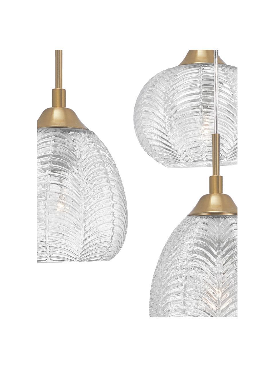 Lampa wisząca ze szkła satynowego Vario, Odcienie złotego, transparentny, Ø 39 x W 24 cm