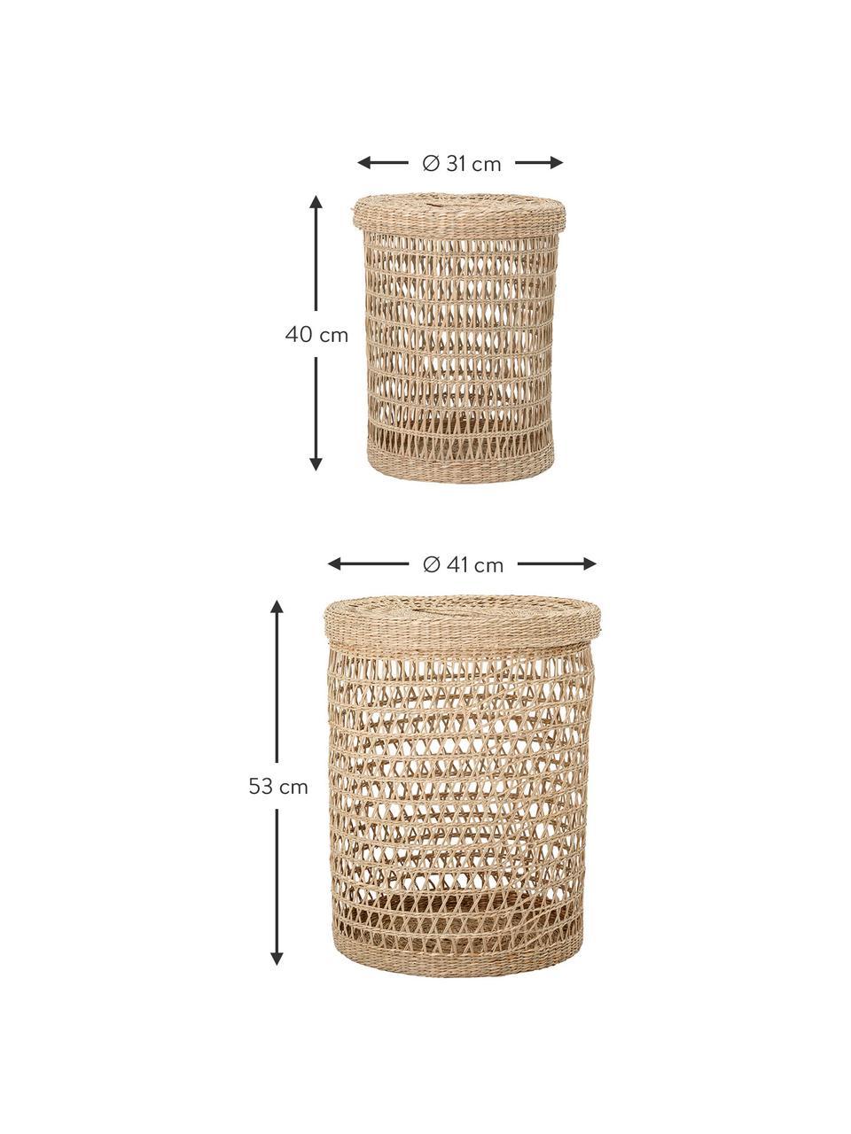 Aufbewahrungskörbe-Set Beta, 2-tlg., Naturfaser, Beige, Set mit verschiedenen Größen