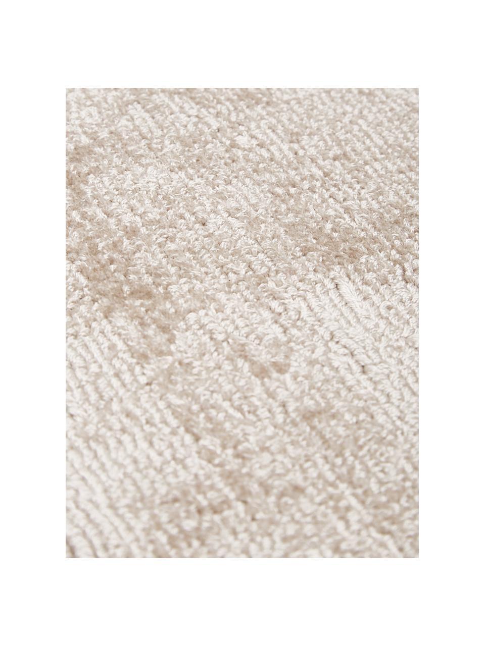 Ručne tkaný koberec z viskózy Jane, Béžová