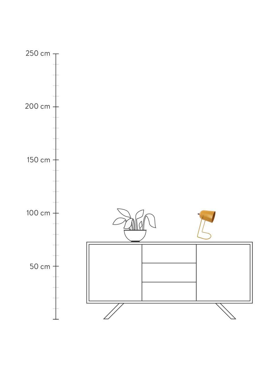Lampa stołowa w stylu retro Enchant, Brunatnożółty, Ø 18 x W 30 cm