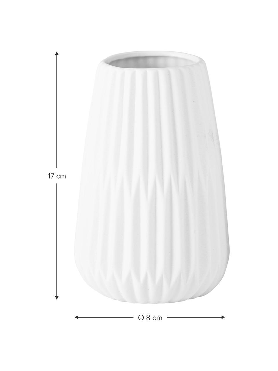 Vazenset Esko van porselein, 2-delig, Porselein, Wit, Ø 8 x H 17 cm