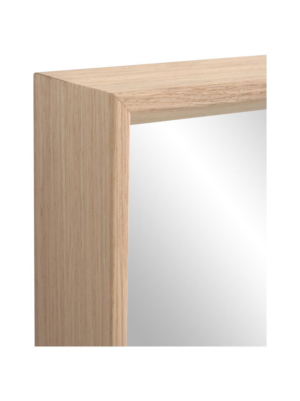Wandspiegel Nerina mit Holzrahmen, Rahmen: Holz, Spiegelfläche: Spiegelglas, Beige, 52 x 152 cm