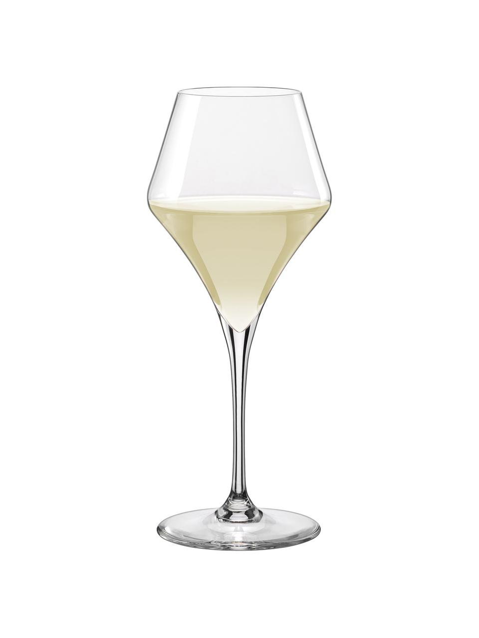 Tulpvormige witte wijnglazen Aram, 6 stuks, Glas, Transparant, Ø 9 x H 22 cm