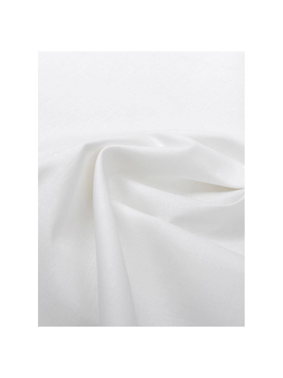 Baumwoll-Bettwäsche Weekend in Weiß, 100% Baumwolle  Fadendichte 145 TC, Standard Qualität  Bettwäsche aus Baumwolle fühlt sich auf der Haut angenehm weich an, nimmt Feuchtigkeit gut auf und eignet sich für Allergiker., Weiß, 200 x 200 cm + 2 Kissen 80 x 80 cm