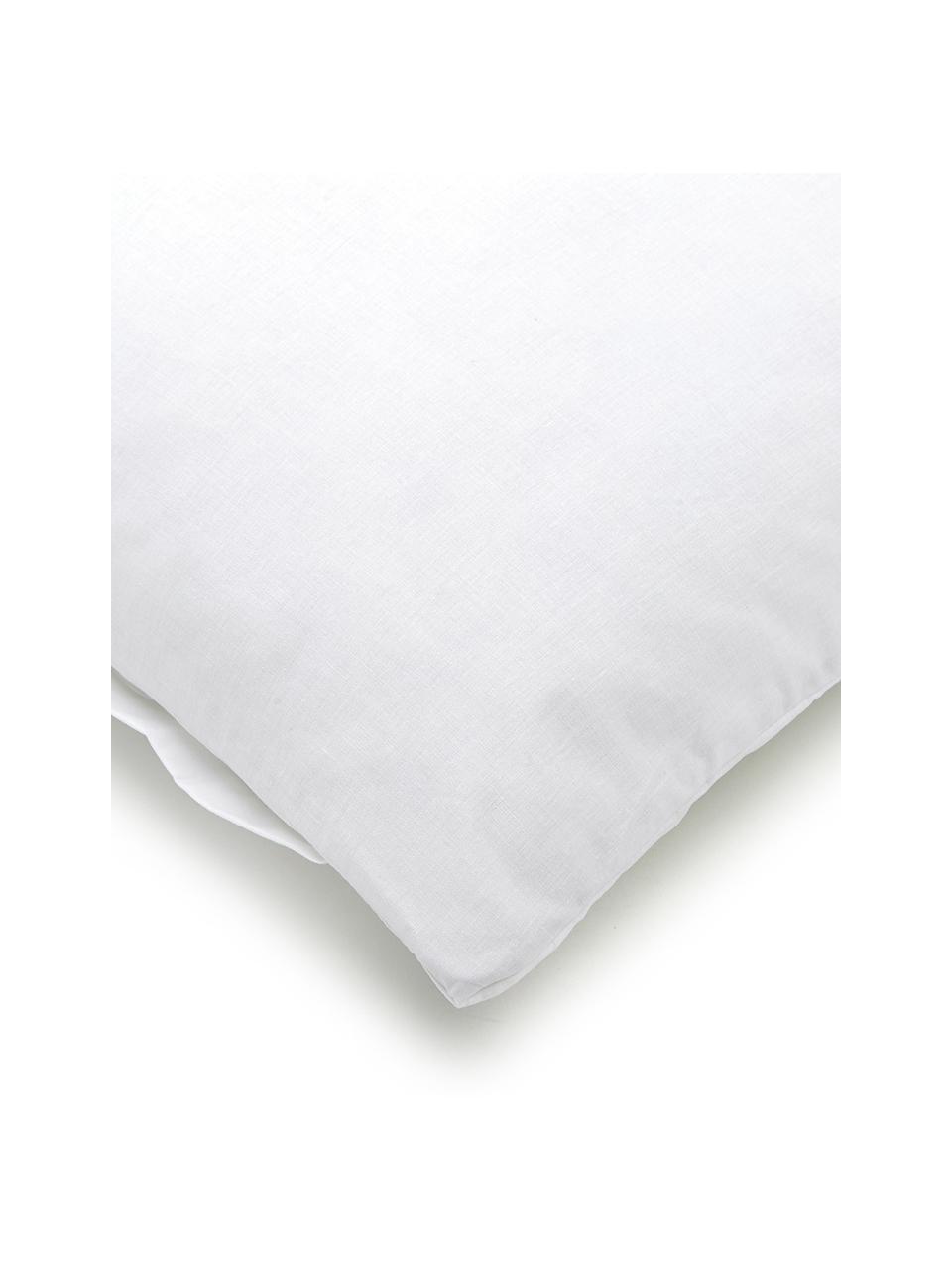 Baumwoll-Bettwäsche Weekend in Weiß, 100% Baumwolle  Fadendichte 145 TC, Standard Qualität  Bettwäsche aus Baumwolle fühlt sich auf der Haut angenehm weich an, nimmt Feuchtigkeit gut auf und eignet sich für Allergiker., Weiß, 135 x 200 cm + 1 Kissen 80 x 80 cm