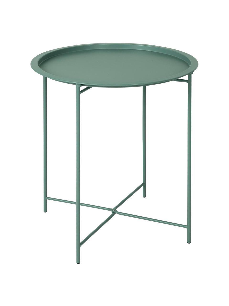Table d'appoint en métal Sangro, Vert