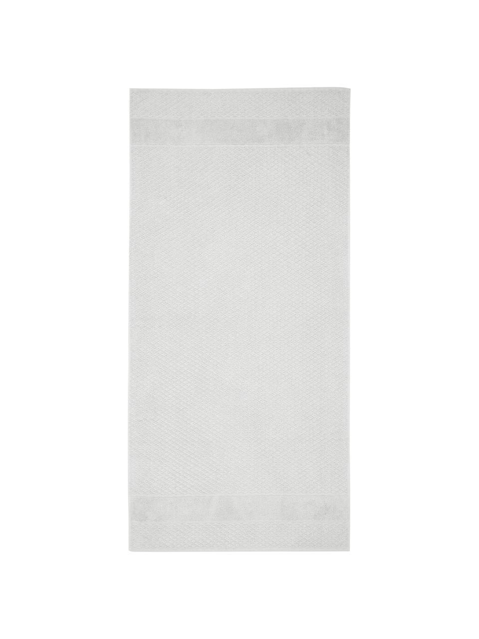 Komplet ręczników Katharina, 3 elem., Srebrnoszary, Komplet z różnymi rozmiarami