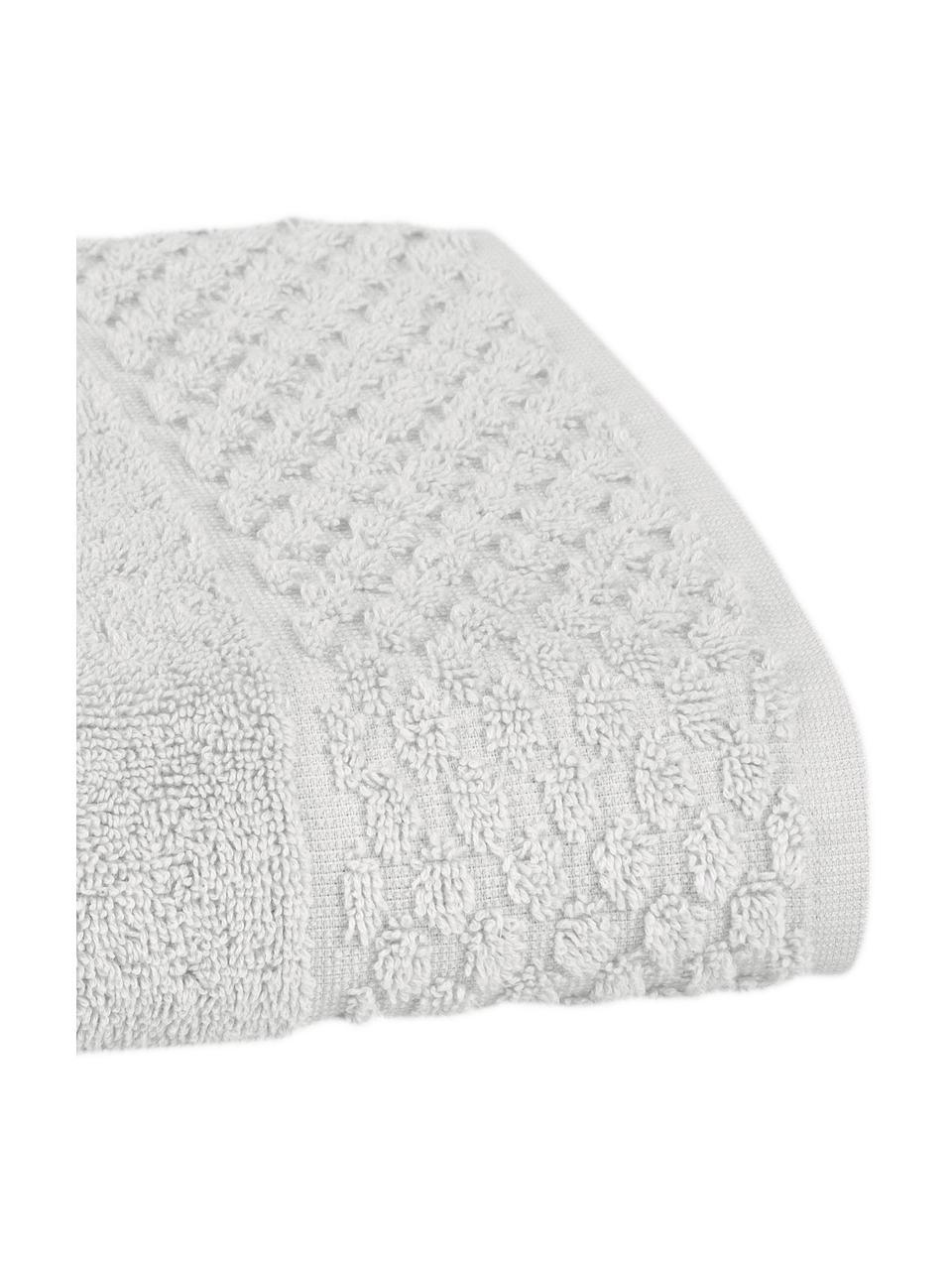 Handdoekenset Katharina, 3-delig, Zilvergrijs, Set met verschillende formaten