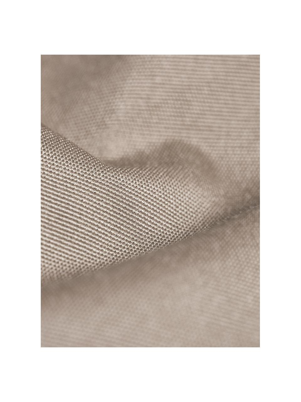 Garten-Liegesack Wave, Bezug: Polyester, polyurethanbes, Schlammgrau, B 70 x T 125 cm