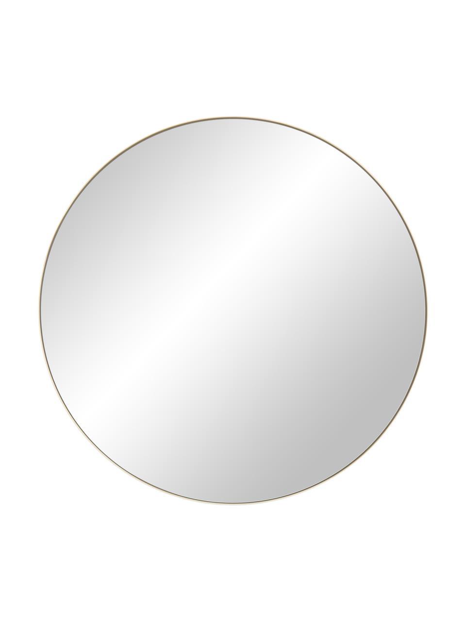 Runder Wandspiegel Ivy mit goldenem Rahmen, Rahmen: Metall, vermessingt, Spiegelfläche: Spiegelglas, Rückseite: Mitteldichte Holzfaserpla, Gold, Ø 100 cm