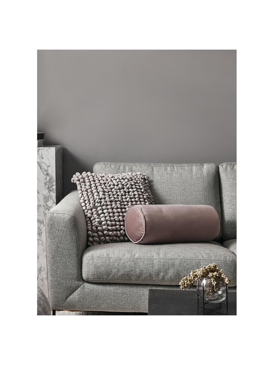 Sofa Cucita (2-Sitzer) in Hellgrau mit Metall-Füßen, Bezug: Webstoff (Polyester) Der , Gestell: Massives Kiefernholz, Füße: Metall, lackiert, Webstoff Hellgrau, B 187 x T 94 cm