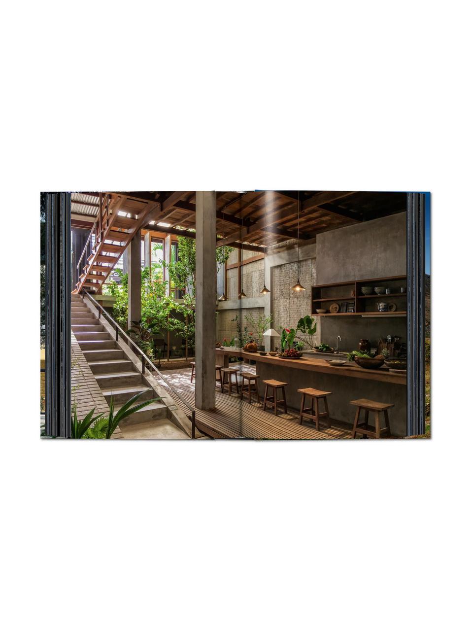 Libro illustrato Homes for our Time, Carta, copertina rigida, Verde, multicolore, Larg. 16 x Lung. 22 cm