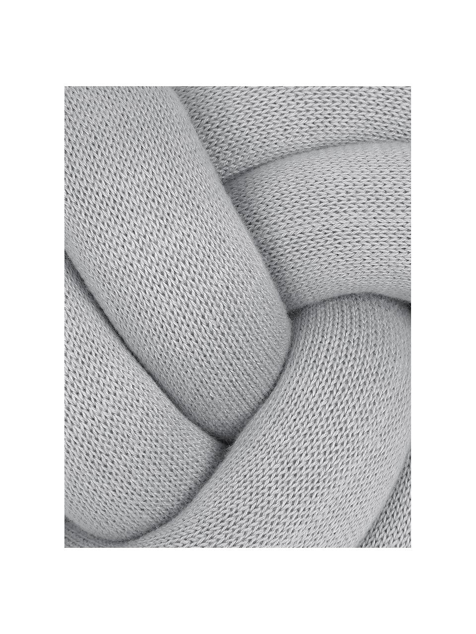 Poduszka supeł Twist, Jasny szary, Ø 30 cm