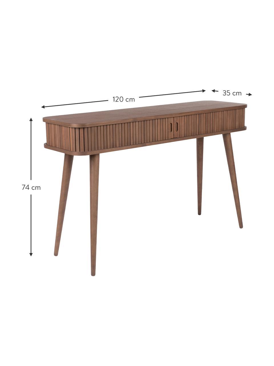 Console rétro en bois avec rangement Barbier, Bois de noyer